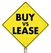 auto lease or buy sign